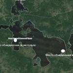 Тело второго рыбака было найдено недалеко от протоки соединяющей озера Большой Вагильский Туман и Малый Вагильский Туман. Фото: скришот сайта www.wikimapia.org.