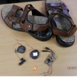 Осужденному сосьвинской колонии пытались переслать телефон в подошве сланцев
