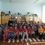 Участники противопожарного мероприятия в Доме детского творчества Восточного. Фото предоставлено Ириной Замараевой.