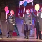 Праздничный концерт прошел в революционном антураже - в 2017 году отмечается столетие со дня Февральской и Октябрьских революций.
