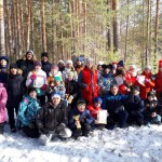Участники зимнего турслета. Снимок на память. Фото предоставлено Турбазой.