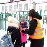 С детьми проводили беседы и раздавали им памятки.